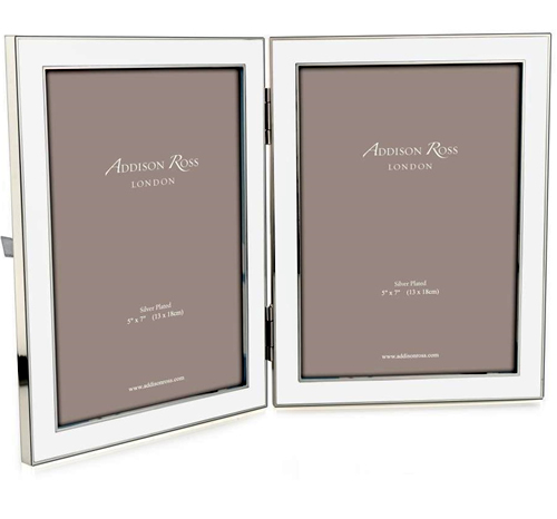 Addison Ross 5 X 7 Double Enamel Frame White
